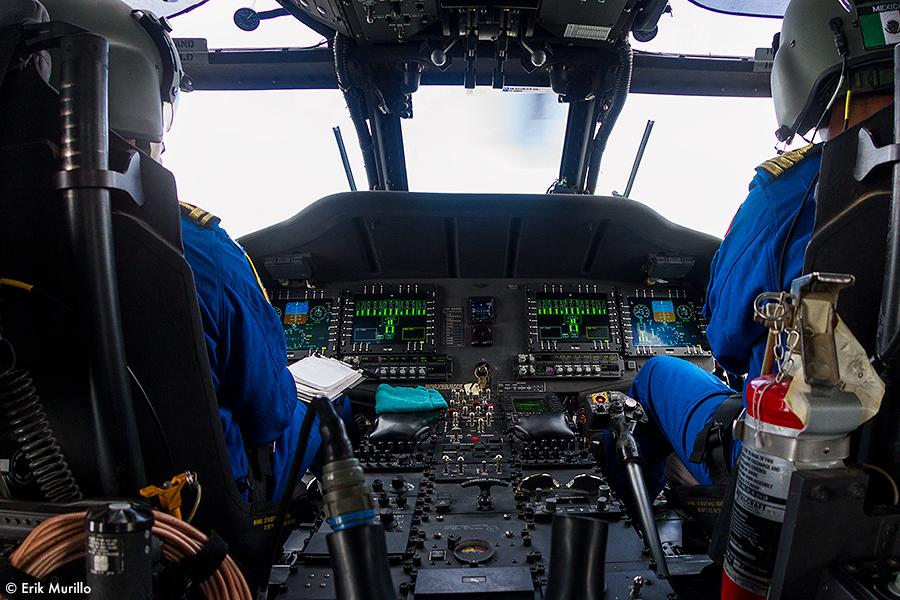 Cockpit en vuelo