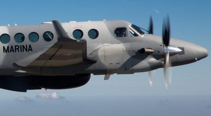 Volando en formación de King Air.